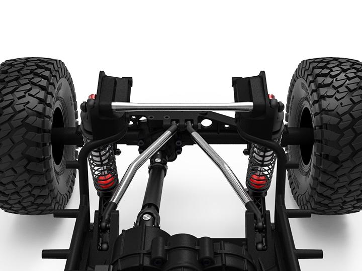 gm30072 02 GR01 Aluminum rear shock brace (Silver) GM30072