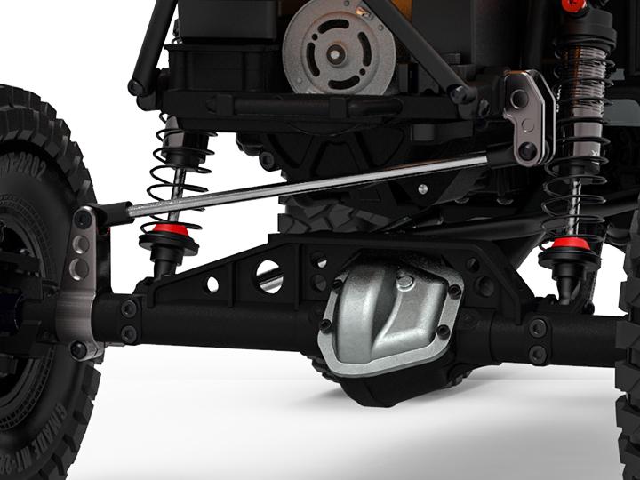 gm30097 02 GR01 Aluminum panhard bar frame mount (Titanium gray) GM30097