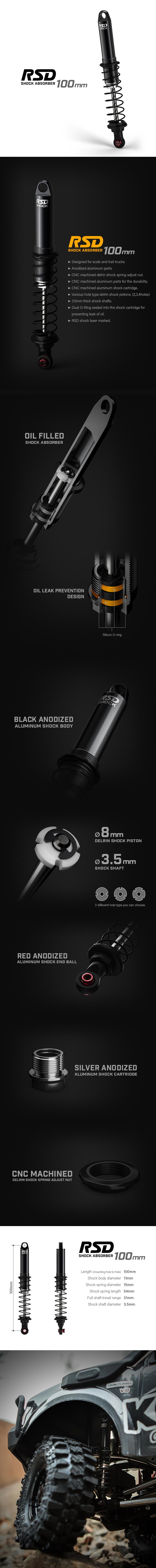 gm23404 Gmade RSD Shock 100mm (2) GM23404