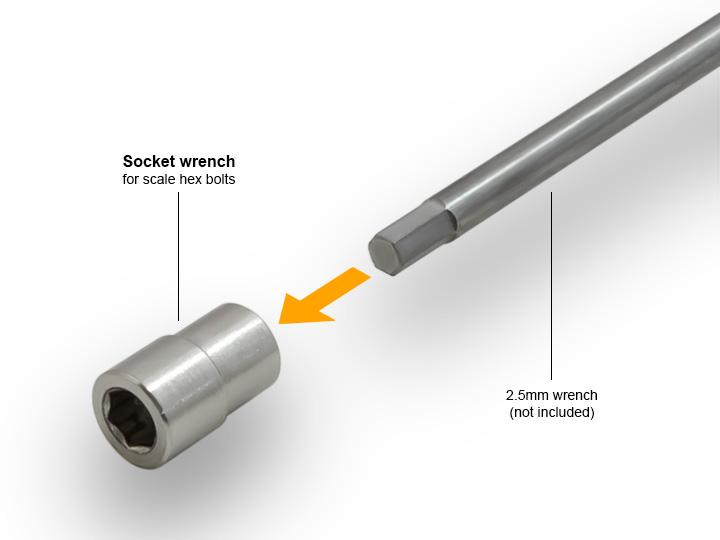 34 socket wrench 1.9 AR01 5 Lug Aluminum beadlock wheels (2) GM70344