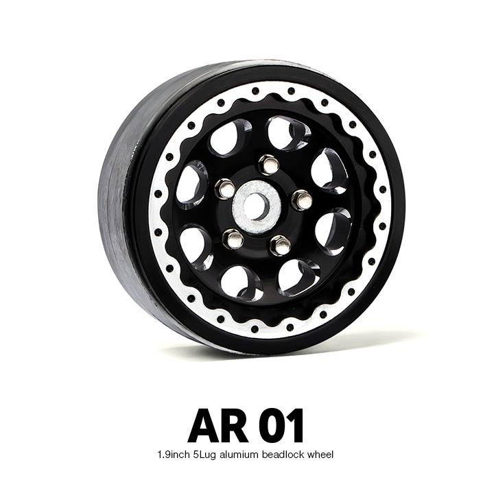 gm70344 1 1.9 AR01 5 Lug Aluminum beadlock wheels (2) GM70344