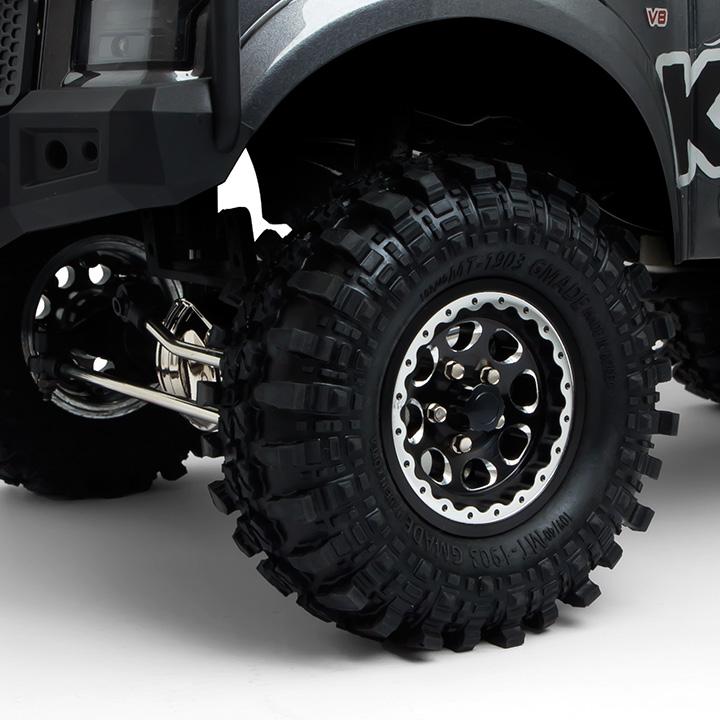gm70344 4 1.9 AR01 5 Lug Aluminum beadlock wheels (2) GM70344